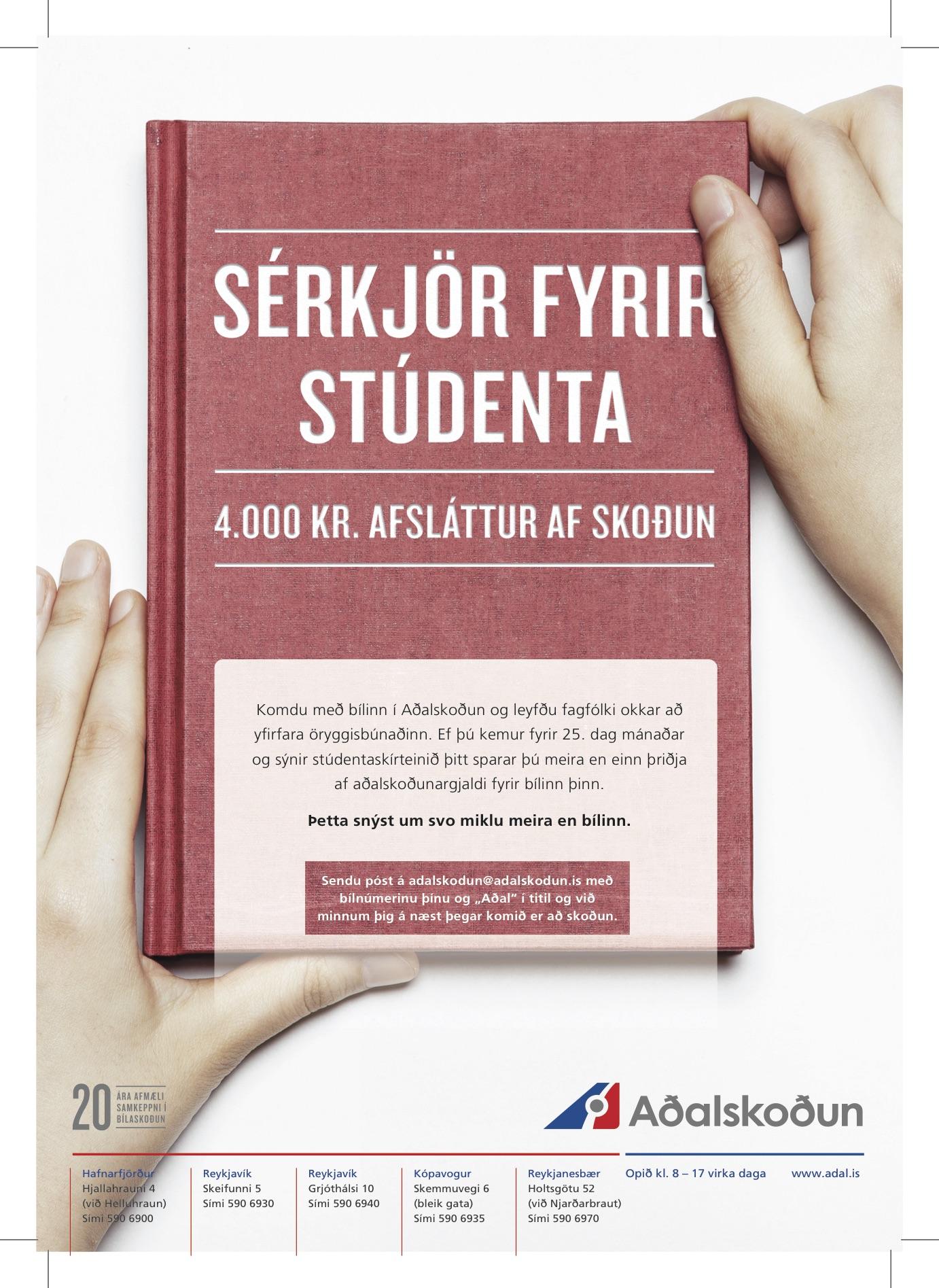 Adalskodun Studentar A4 heilsida jan2016
